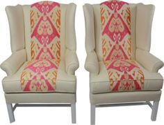pretty coral wingbacks