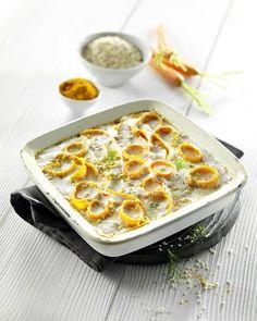 Gratin de Carottes au Millet, Lentilles corail et Lait de coco