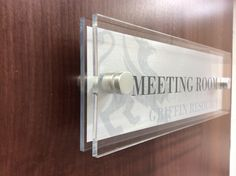 Double the Beauty of our standard signs - Our double layered highly polished Perspex Door Sign  Do you have one yet? www.de-signage.com