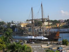 "The Spanish ship ""La Pepa"" while in port in Santo Domingo"