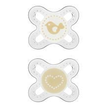 http://www.toysonlineusa.com/category/mam-pacifiers/ MAM pacifiers comes with microwave sterilization case. Orthodontic shape