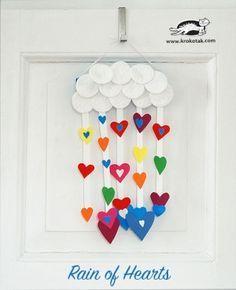 UNE PLUIE DE COEURS Pour la St Valentin, la Fête des Mères ….ou les amoureux de coeurs...