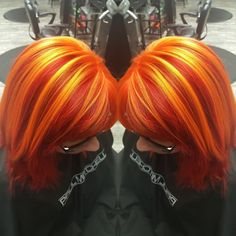 Someone needs to let me do this to their hair! Red and orange hair