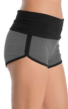 Two Tone Dolphin Shorts (Black/Charcoal) Sport Outfits, Summer Outfits, Cute Outfits, Next Fashion, Fashion Outfits, Chica Punk, Dolphin Shorts, Looks Street Style, Fitness Workout For Women