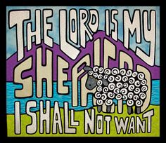 "Quilted wall hanging pattern - The Lord is My Shepherd - 25"" x 28"" - $12"