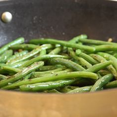 Fresh green beans are lightly sautéed and tossed with lemon juice, fresh thyme and parsley in this simple yet elegant side dish.