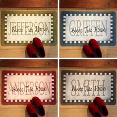 bless this home doormat 17 x 27 available in 5 colors