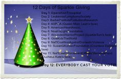 12 Days of Sparkle Giving