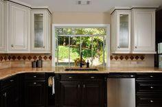 Cabinets High End Crackle Glass Backsplash Tiles LED Under Cabinet