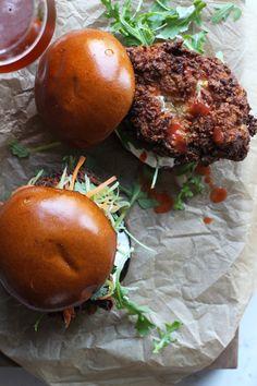 Buffalo Fried Chicken Sandwiches via @honestlyyum