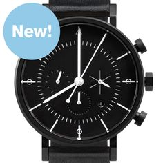 Eon (black) watch by AÃRK. Available at Dezeen Watch Store: www.dezeenwatchstore.com