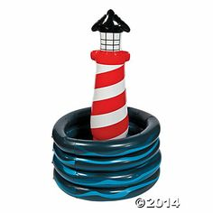 Inflatable Lighthouse Cooler $15.00  Jess--- photo prop?