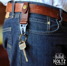 The Henry PERSONALIZED Fine Leather Keychain Key by HoltzLeather