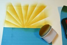 I'm seeing sunrays everywhere these days.  Here's a good tutorial for how to make one on a card!