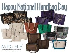 Are you ready for tomorrow's ‪#‎NATIONALHANDBAGDAY‬ ?  ‪#‎Miche giving away 7 Complete MICHE bags - LIKE & FOLLOW the official Miche Facebook Page https://www.facebook.com/OfficialMiche to get the ball rolling, Click on photo for rules. BE IN IT TO WIN IT!