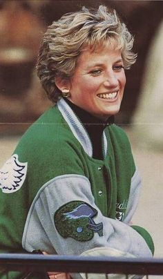 Princess Diana rockin' her EAGLES gear!!