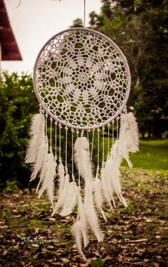 dream catcher is one of my inspirations Crochet Doily Patterns, Crochet Doilies, Doily Dream Catchers, Dream Catcher Tutorial, Home Decor Inspiration, Homemade, Crafts, Dreamcatchers, High Fashion