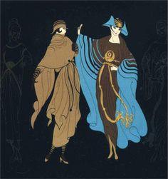 Erté's Art Deco Fashion Illustrations Arte Art Deco, Art Deco Artists, Estilo Art Deco, Art And Illustration, Art Nouveau, Erte Art, Vintage Magazine, Art Deco Stil, Inspiration Art