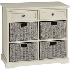 Carbis 2 Drawer and 4 Basket Seagrass cabinet