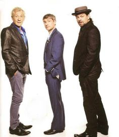 Ian McKellen, Martin Freeman and Andy Serkis