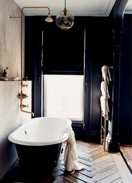 everyone's favourite, most pinned, black, small, claw foot tub, gold