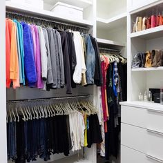 Nothing makes us happier than when our client owns every color of the rainbow  Products linked on our favorites page // @liketoknow.it http://liketk.it/2qLuy ✨ #thehomeedit #closet #organization
