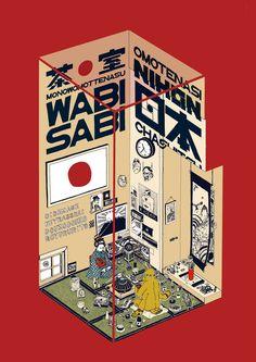 Japanese Illustration: Omotenashi Nihon. Kaido Kenta. 2014 | Gurafiku: Japanese Graphic Design