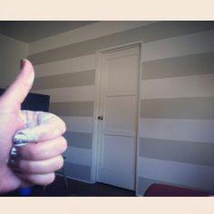 Horizontal striped wall