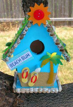 Beach Bum Birdhouse made by ShaunnaRooskie from scrapbook.com