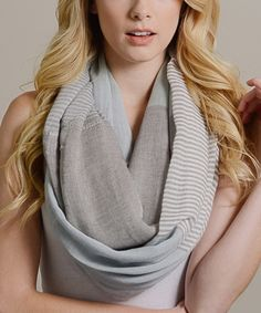 Take a look at this Leto Collection Seafoam Stripe Color Block Infinity Scarf today!