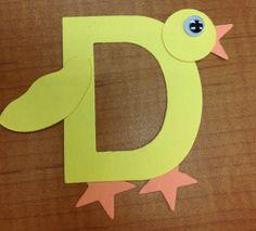 Letter D Duck Craft!