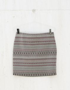 BSK jacquard miniskirt. Discover this and many more items in Bershka with new products every week