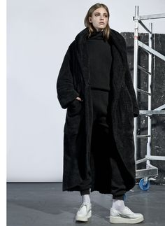 Black Thick Coat | Tvortz | Shop | NOT JUST A LABEL