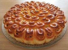 Фото к рецепту: Мясной пирог хризантема