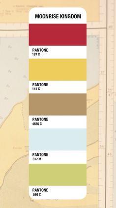 Moonrise Kingdom Pantone Color Palette
