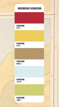Moonrise Kingdom Pantone Color Palette