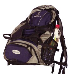 Lightweight types of backpacks are sometimes worn on only one shoulder strap.