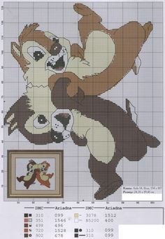 Cross stitch patterns toon / Chip and Dale