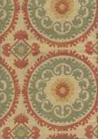 Cairo Tangerine Contemporary Upholstery Fabric