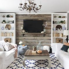 Hide That TV! Ideas for a DIY Accent Wall That Includes a TV