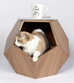 11 Cat Caves That Prove Cat Beds Can Be Stylish Tap the link for an awesome selection cat and kitten products for your feline companion! Bow Chicka Meow Meow