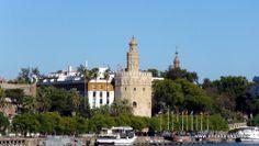 #Sevilla capital - Excursiones por el río Guadalquivir GPS 37.385278, -6.002500  Cruceros Torre del Oro les propone descubrir el río Guadalquivir: río grande y milenario, río romántico y legendario, el río de los conquistadores de América, el único río navegable de España.