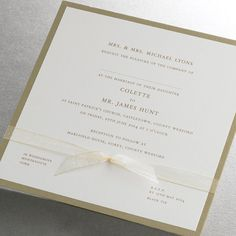 Wedding Invitations Ireland :: Finer Details :: Classic Wedding Invitation Collection :: Susan Elegant Wedding Invitation