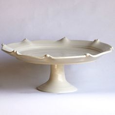Eight Scallop Cake Plate by Francis Palmer