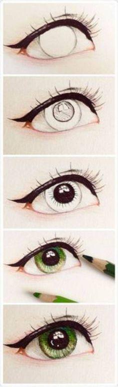 #眼睛##手绘教程#-堆糖,美好生活研究所