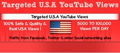 If you are looking to buy targeted YouTube views SocialFansgeek present Targeted views package where u can buy viewers from any Country , Weather its Usa , uk , brazil or any country , ( all over Views are facebook , twitter & Social networking referrals Views ) ( 100% Safe & organice Views )     for More info Visit - http://www.socialfansgeek.com/buy-usa-youtube-views-100-real-usa-youtube-views/
