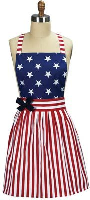 Take a look at this America Dress Apron by Kay Dee Designs on today! Just in time for my Fourth of July BBQ! Sewing Crafts, Sewing Projects, Diy Crafts, Aprons Vintage, Retro Apron, Retro Dress, Cute Aprons, Patriotic Crafts, Patriotic Party