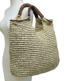 Love this Boardwalk Style Brown Large Beach Tote by Boardwalk Style on #zulily! #zulilyfinds