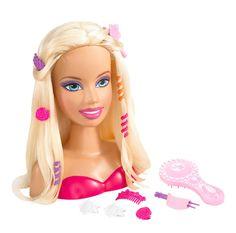 barbie doll styling head and Wear Hair Accessory Mattel Barbie, Barbie Go, Barbie Party, Barbie World, Barbie Stuff, Barbie Styling Head, Doll Divine, Dolls For Sale, Doll Head