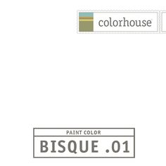 Colorhouse BISQUE .01 - Our purest white. Like the first snowfall. No trace of any other color but white. Perfect for colonial trim.